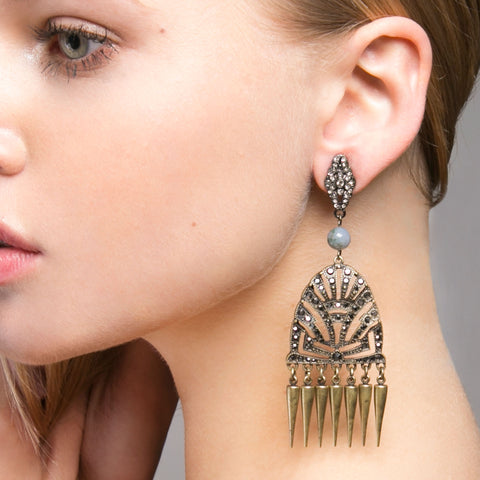Pavone Earrings