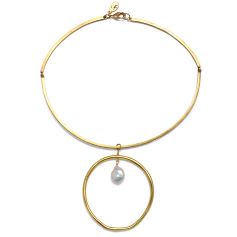 Pearl Halo Choker Necklace