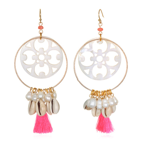Pearl Dreamcatcher Earrings