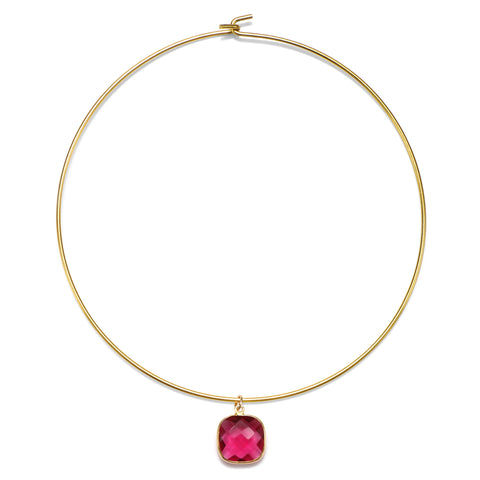 Pink Cannes Choker Necklace