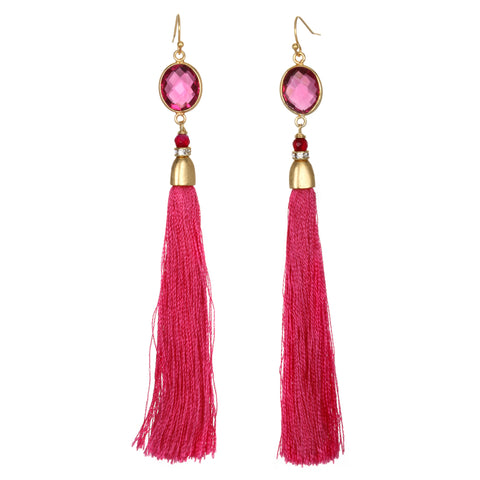 Pink Saint-Tropez Tassel Earrings