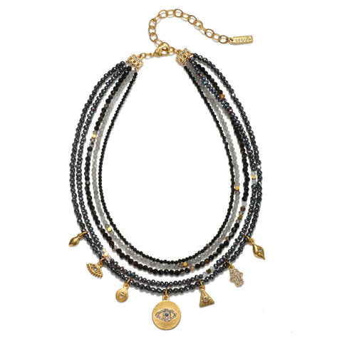 Protection Semi-Precious Multi-Strand Necklace