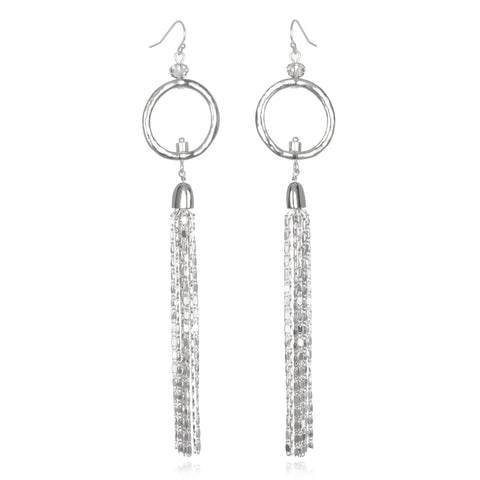 Quicksilver Tassel Drop Earrings