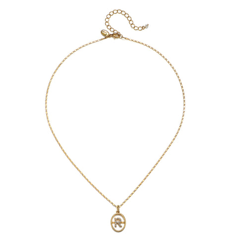 """R"" Chloe Initial Talisman Necklace"