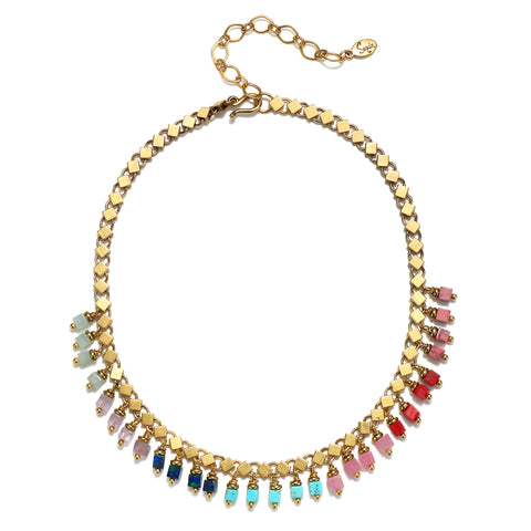 Rainbow Ombre Choker Necklace