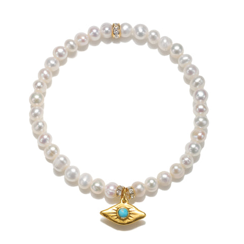 Ray of Light Evil Eye Pearl Color Karma Bracelet