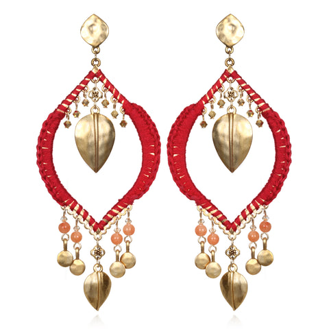 Red Ibiza Chandelier Earrings