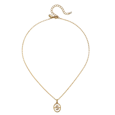 """S"" Chloe Initial Talisman Necklace"