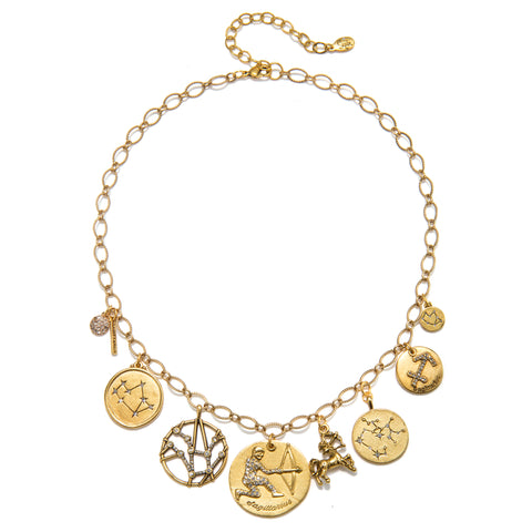 Sagittarius Super Zodiac Star Maps Necklace