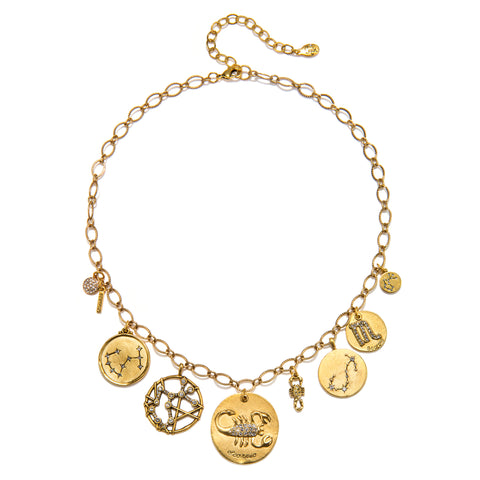 Scorpio Super Zodiac Star Maps Necklace