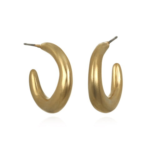 Sculpted Medium Hoop Earrings