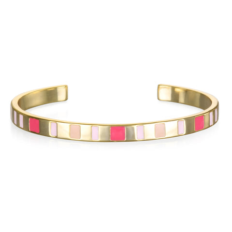 Shades of Pink Enamel Cuff