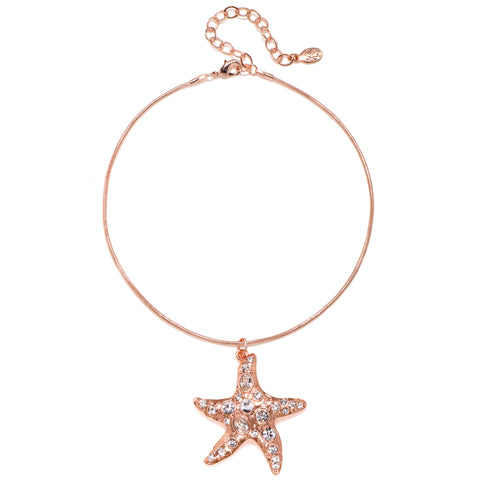 Starfish Talisman Choker Necklace - Snake Chain