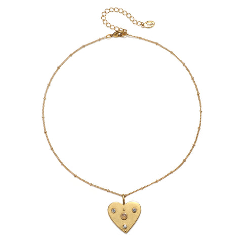 Starry Heart Choker Necklace