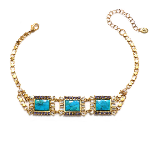 Antoinette Choker Necklace - Turquoise