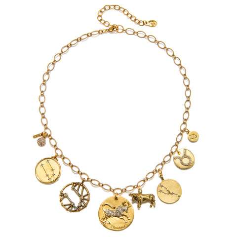 Taurus Super Zodiac Star Maps Necklace