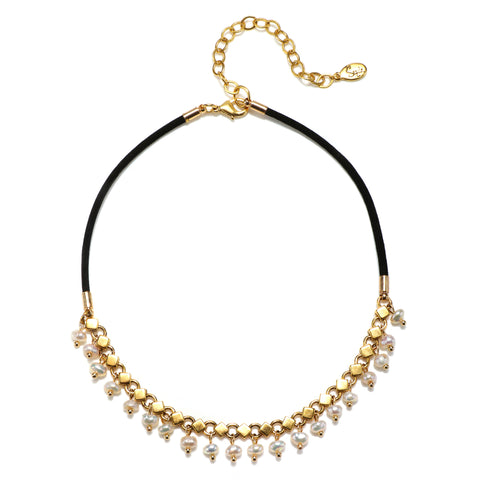 Teardrop Pearl Choker Necklace
