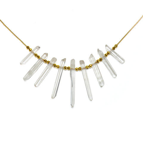 Transformation Quartz Crystal Choker Necklace