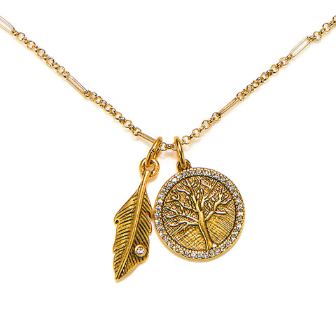 Tree of Life Talisman Charm Necklace