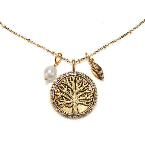 Tree of Life 3-Charm Talisman Necklace