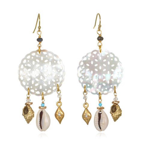 Tulum Shell & Mother-of-Pearl Earrings