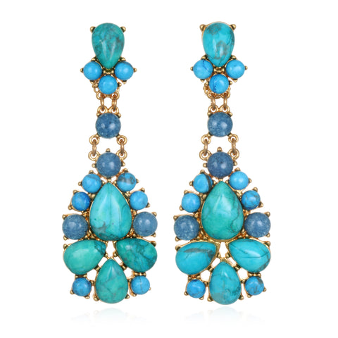 Turquoise Sky Drop Earrings