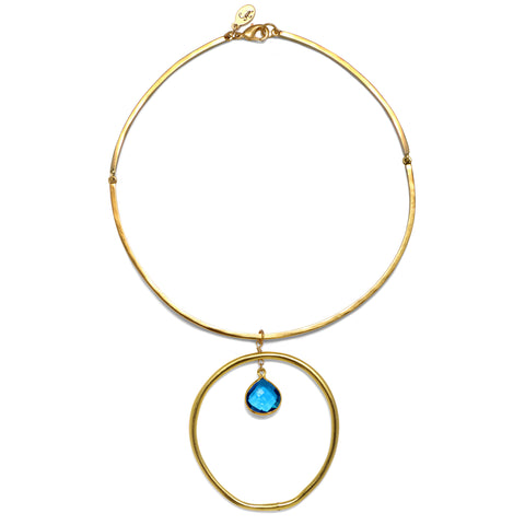 Turquoise Halo Choker Necklace