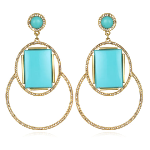 Marquesas Drop Earrings - Turquoise