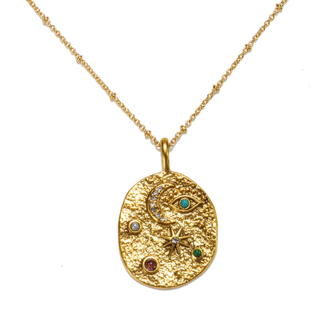 Universal Balance Talisman Medallion Necklace