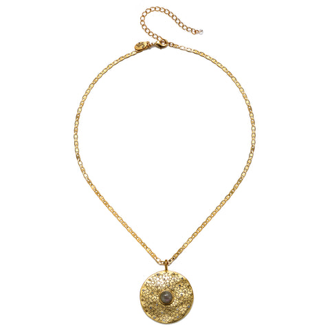 Universal Harmony Talisman Medallion Necklace