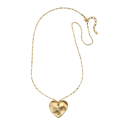 Untamed Heart Statement Pendant Necklace