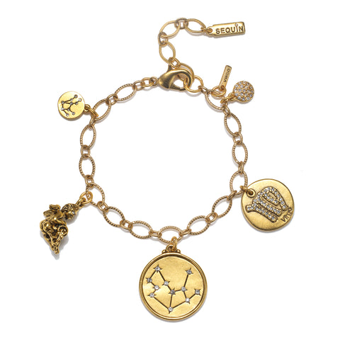 Virgo Super Zodiac Star Maps Bracelet