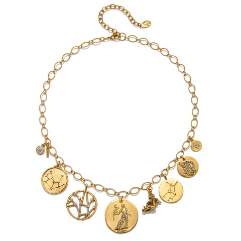 Virgo Super Zodiac Star Maps Necklace