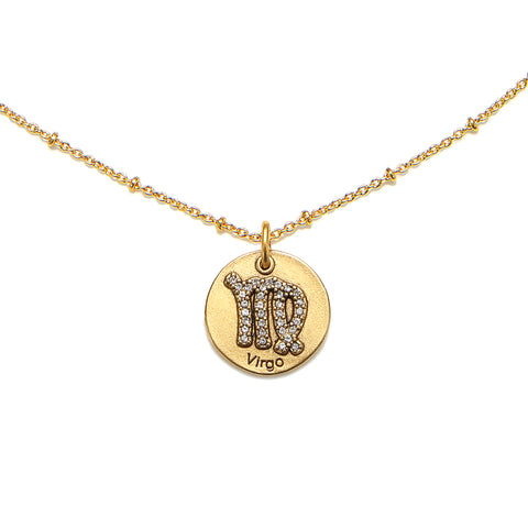 Virgo Zodiac Talisman Charm Necklace