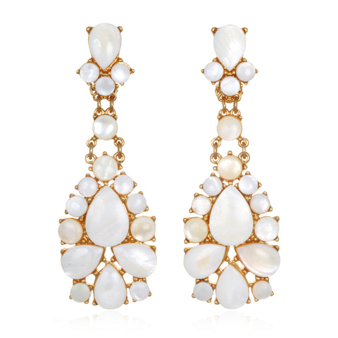 White Sky Drop Earrings