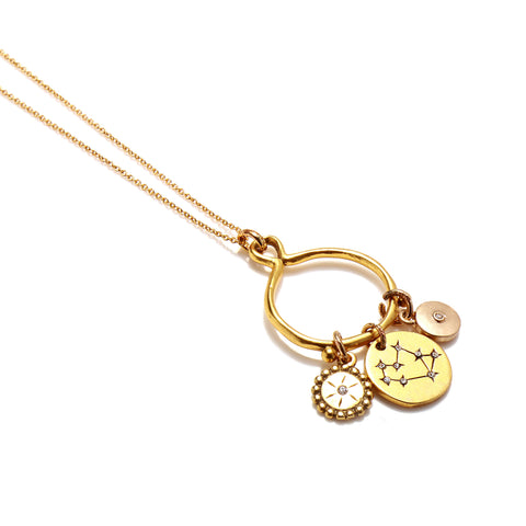 Sagittarius 3-Charm Necklace