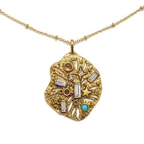 Ancient Remnant Talisman Medallion Necklace