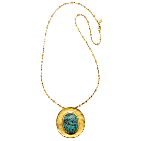 """Eartha"" Statement Pendant Necklace"