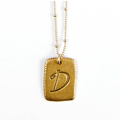 """D"" Smooth Initial Necklace"