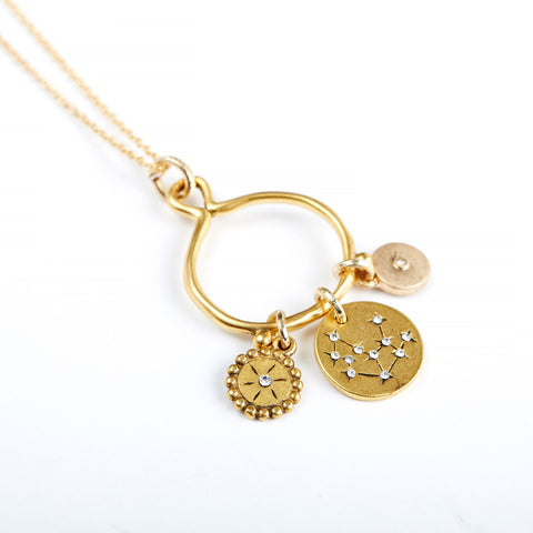 Virgo 3-Charm Necklace