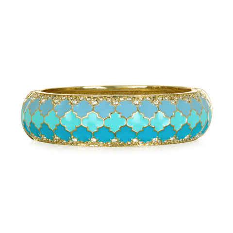Tuile Turquoise Wide Bangle Bracelet