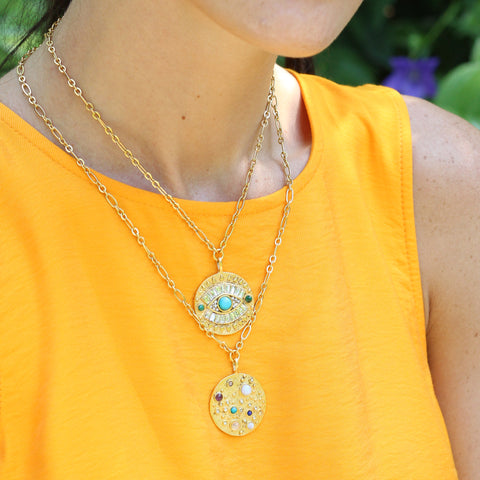 Cosmic Journey Talisman Medallion Necklace