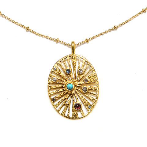 Cosmos Talisman Medallion Necklace