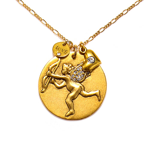 """Cupid on a Mission"" Talisman Necklace"
