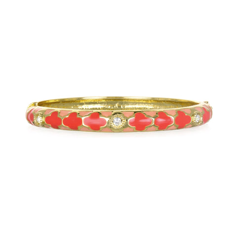 Tuile Coral Narrow Bangle Bracelet