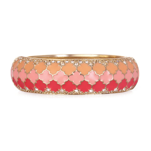 Tuile Coral Wide Bangle Bracelet