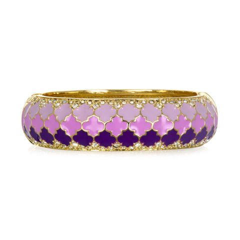 Tuile Lilac Wide Bangle Bracelet