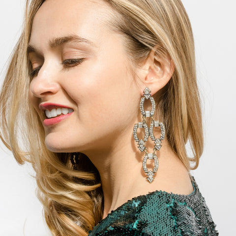 Deco Link Chandelier Earrings