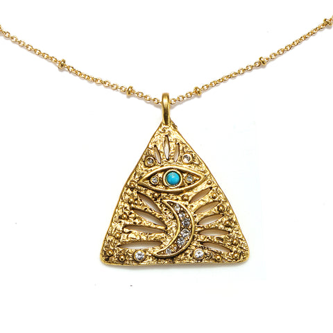 Divine Protection Talisman Medallion Necklace