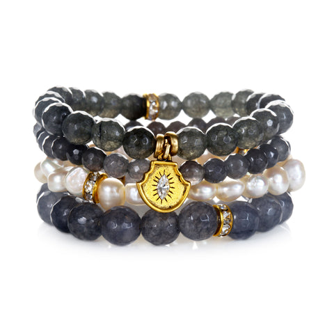 """Calm"" Color Karma Beaded Bracelet Set"